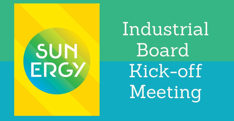SUNERGY | Industrial Board Kick-Off Meeting