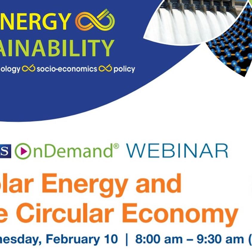 MRS On Demand Webinar - Solar Energy and the Circular Economy