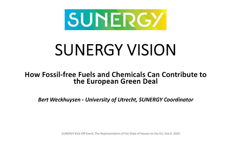 SUNERGY | How Fossil Free Fuels & Chemicals Can Contribute to the Auropean Green Deal