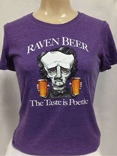 Ladies Crew T-shirt with Two Fisted Poe