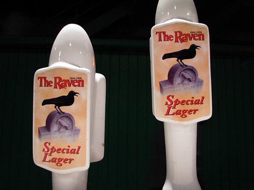Vintage RavenBeer Ceramic Tap Handles