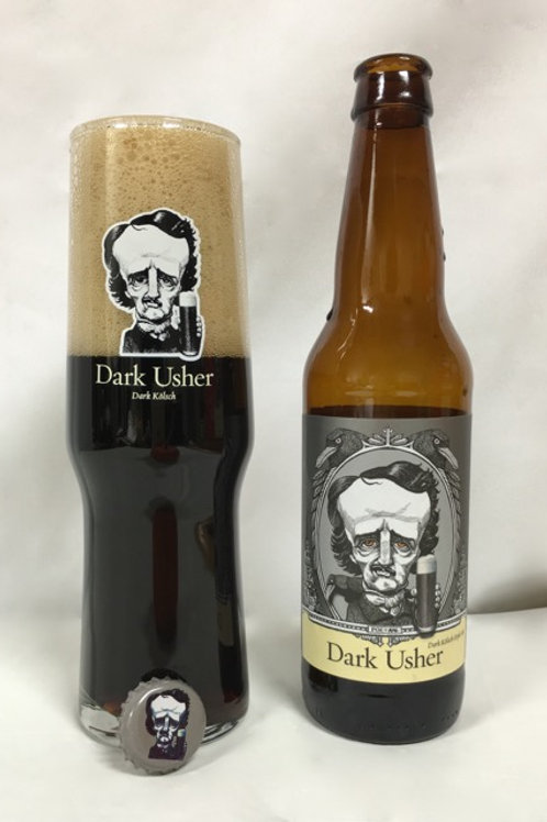 Dark Usher Kölsch Glass