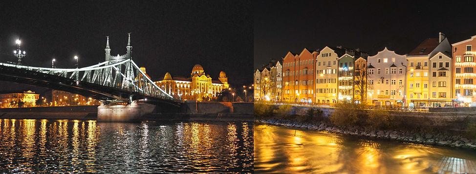 hier verbindet die Freiheitsbrücke Budapest mit Innsbruck