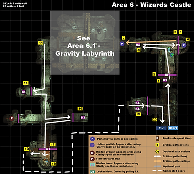Map overview of the last challenge of the level.