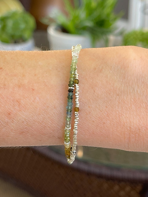 Double Green Tourmalines Bracelet