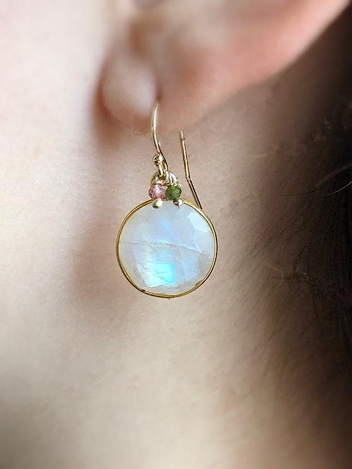 Delicate Full Moon Earrings