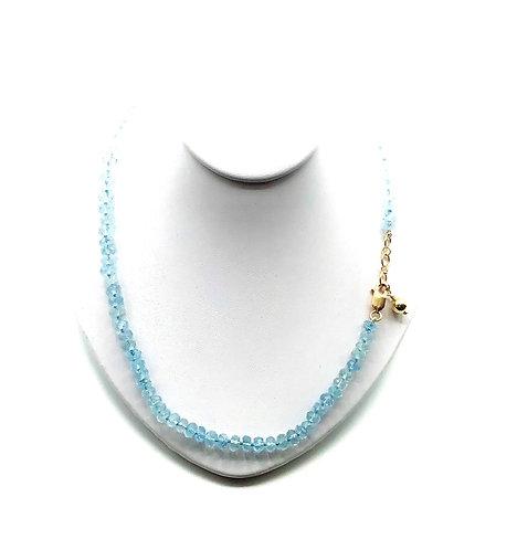 Pure Aquamarine Bracelet or Necklace