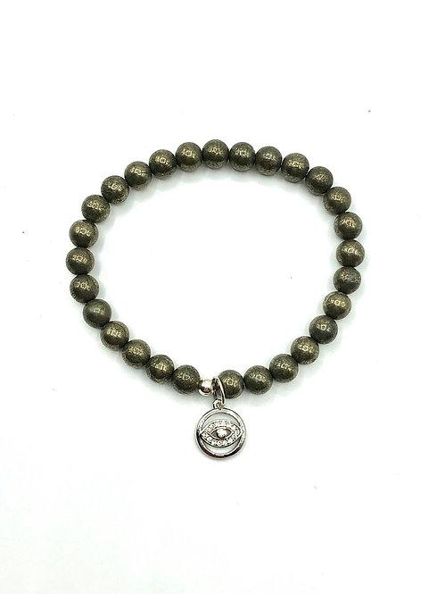 Pyrite Eye Bracelet