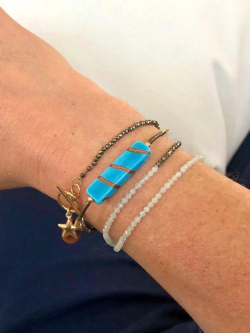 TriTrap Aquapyrite Bracelet or Necklace