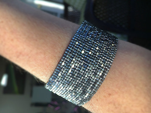 Silver Danubio Beaded Bracelet
