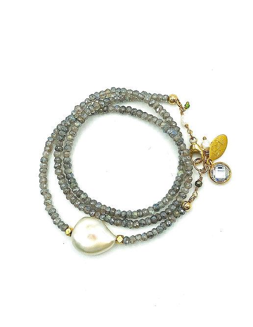 TriTrap Labradorite Bracelet or Necklace