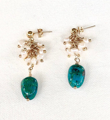 Pure Turquoise Drop Earrings