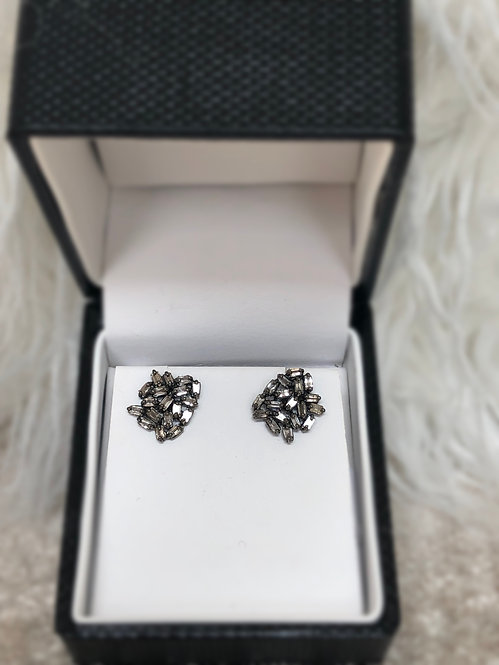 Diamond Nut Earrings