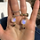 Thumbnail: Moonstone with Tourmalines Earrings