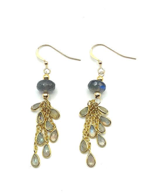 Labradorite Rain Earrings