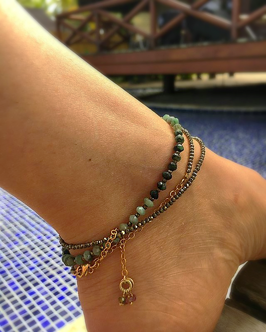 Costa Smeralda Anklet or ...bracelet or ...necklace