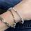 Thumbnail: Aquamarine one wrap bracelet