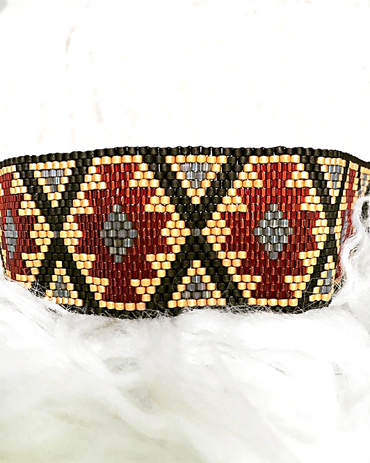Aztec Beaded Bracelet
