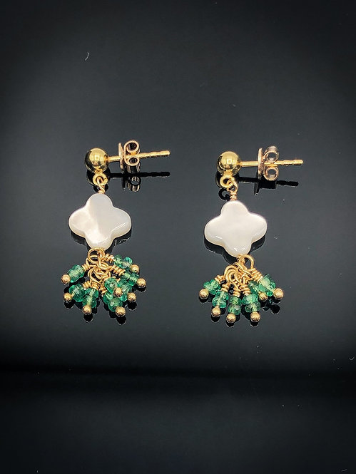 Emerald Clover Earrings