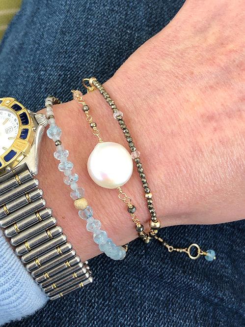 TriTrap Aquamarine Bracelet or Necklace