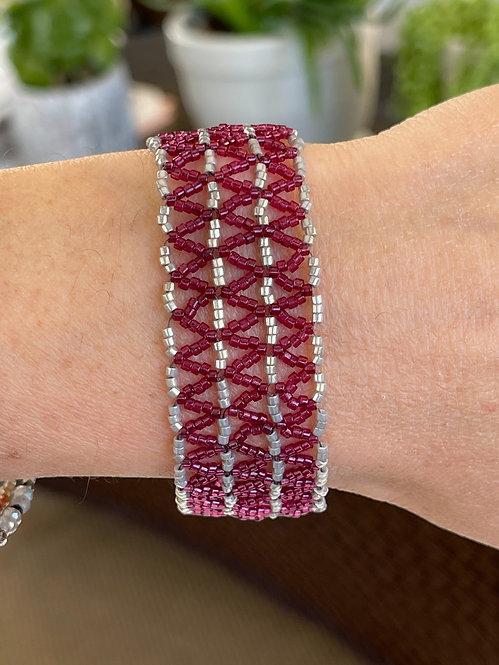 Pink Lacy beaded bracelet