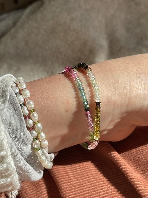 Pastel double wrap bracelet