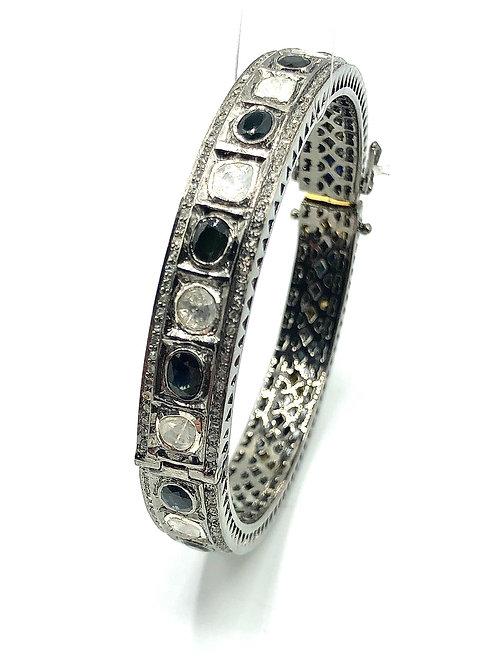 Diamond Sapphire Bangle