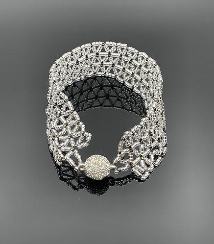 Lacy beaded bracelet