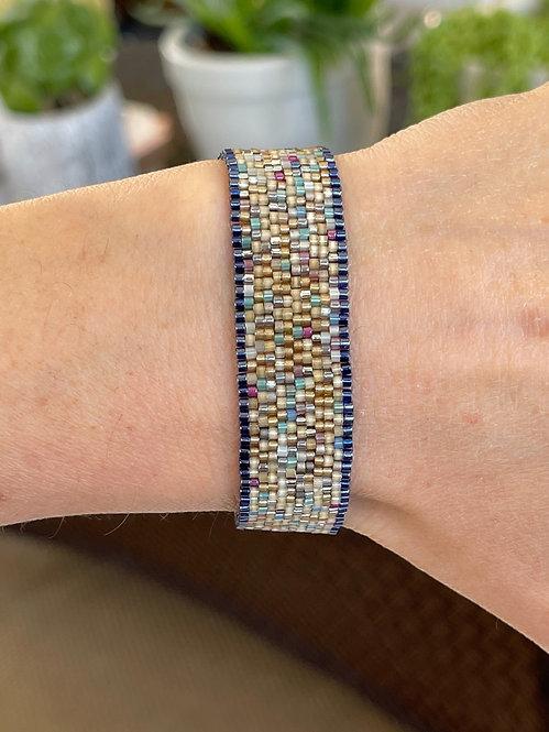 Blue K Beaded Bracelet