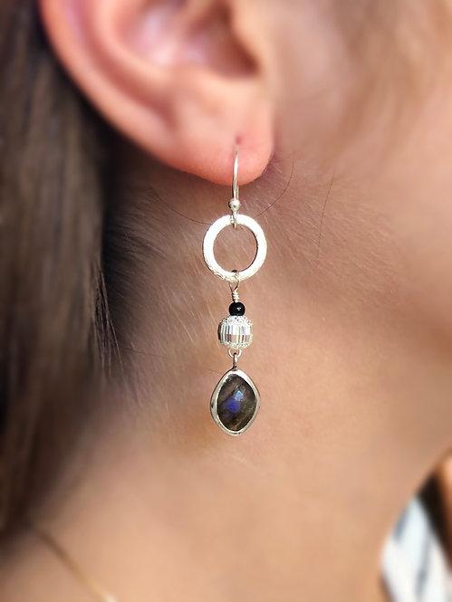 Blue Flash Earrings