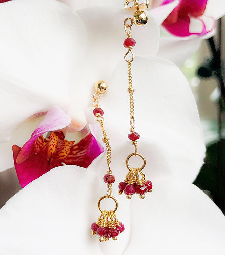 Ruby Fall Earrings