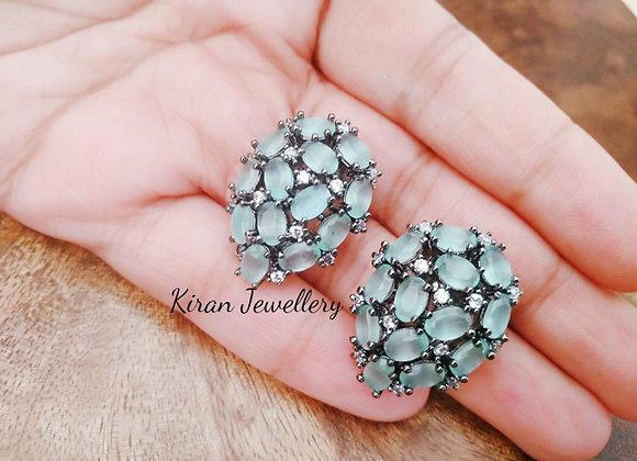 Mint Stone Studs