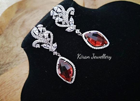 Mehroon Shade AD Earrings