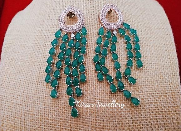 Green Color Stylish Earrings