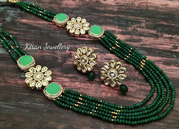 Elegant SeaGreen Kundan Necklace
