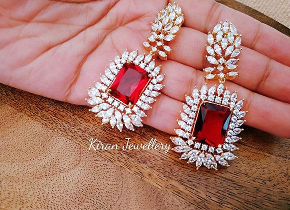 Elegant and Stylish Ruby Earrings