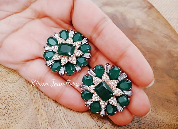 Green Color Stylish Studs