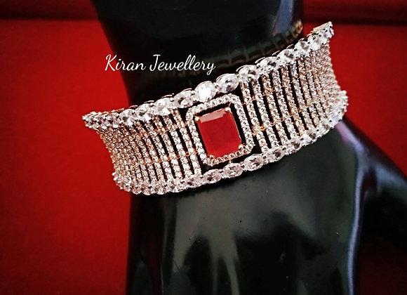 RoseGold Polish Ruby Stone Stylish Bracelet