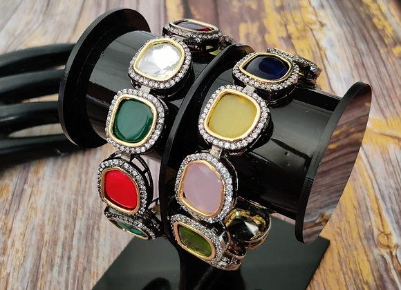 Multicolor High Quality Kundan Bangles