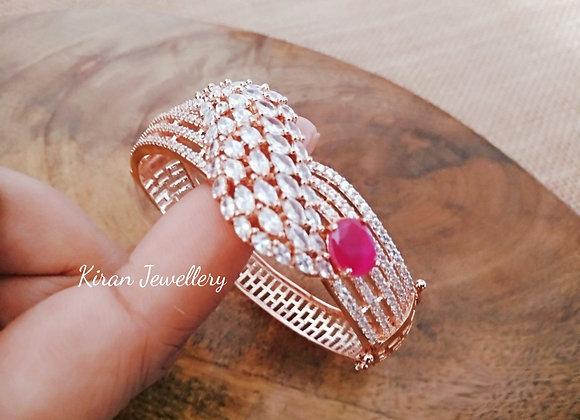 RoseGold Polish Ruby Bracelet