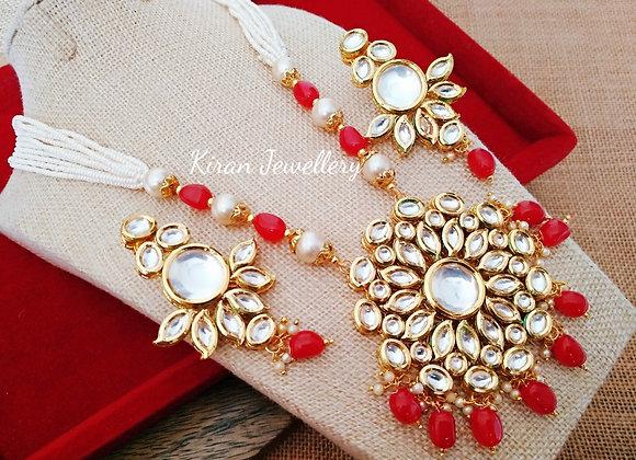 Kundan Necklace With Mala