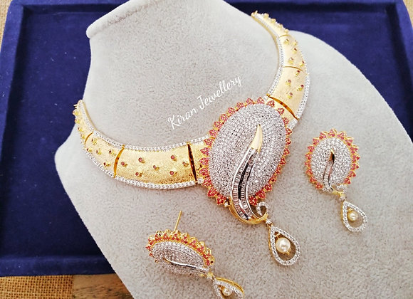 Golden Ruby AD Necklace