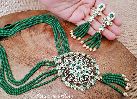 Green Pearl Mala Set