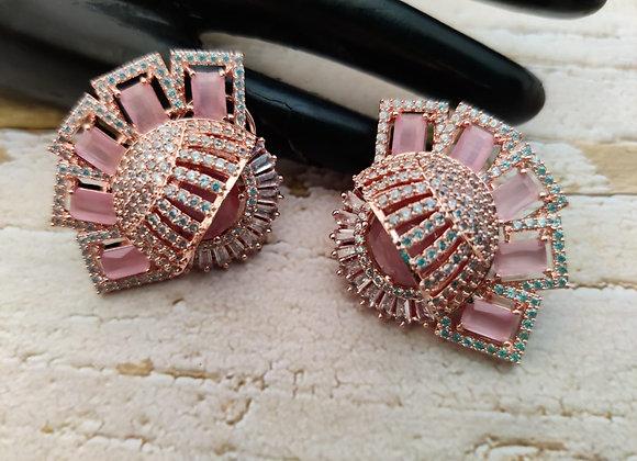 Pink Stone Designer Earrings