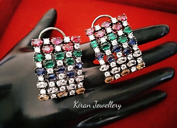 Multicolour Studs by Kiran Jewellery