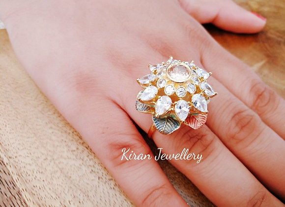 Beautiful And Elegant White Stone Ring