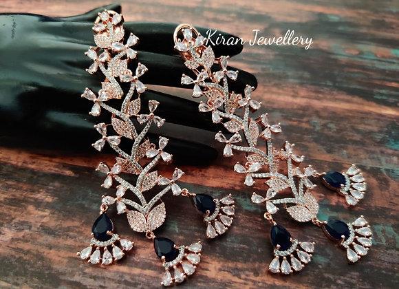 Blue Stone Stylish Earrings