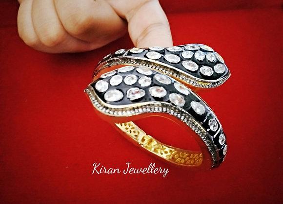 Oxidized White Bracelet