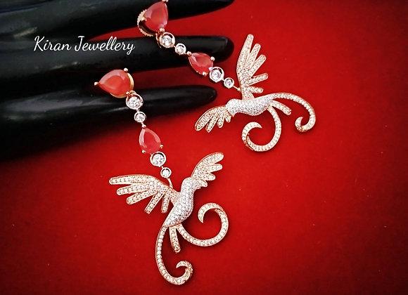 Angel Ruby Rosegold Earrings