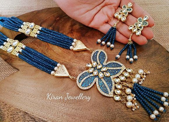 Blue Mala Butterfly Set